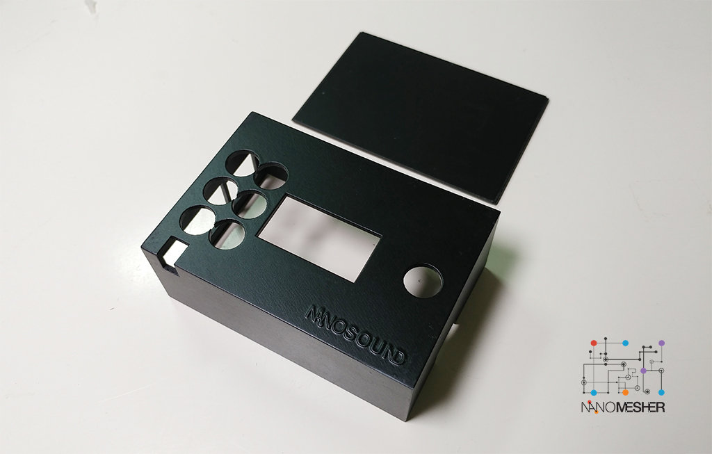 NanoSound DAC (Basic / Pro) 3D Printed Case (Black) NSOUNDCASEB
