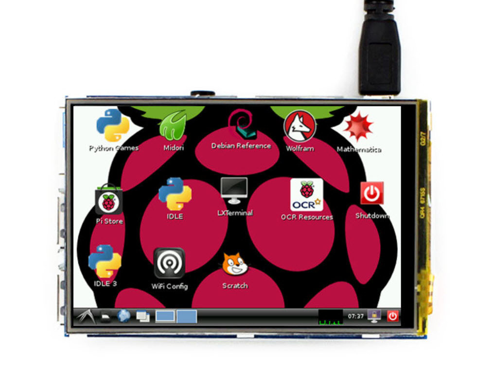 Waveshare 3.5inch RPi LCD (B), 320×480, IPS WS35RPiLCDB