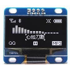 "i2c OLED 1.3"" Display for NanoSound DAC / DAC 2 / Pi / Arduino (White)"