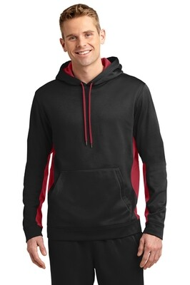 Sport-Tek® Sport-Wick® Fleece Colorblock Hooded Pullover