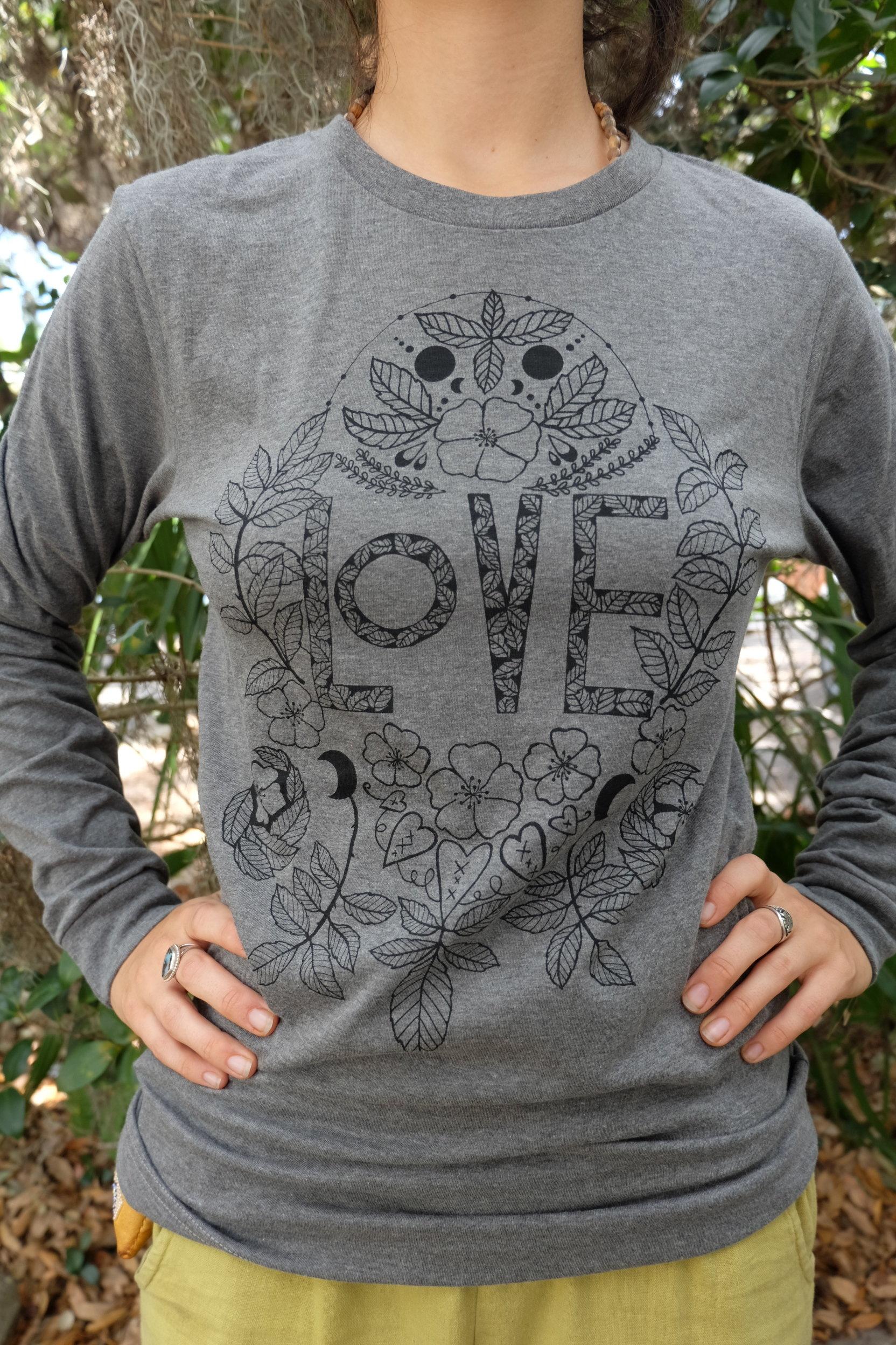OGCP Unisex Long Sleeved Tee - Love, Wild Rose 00012