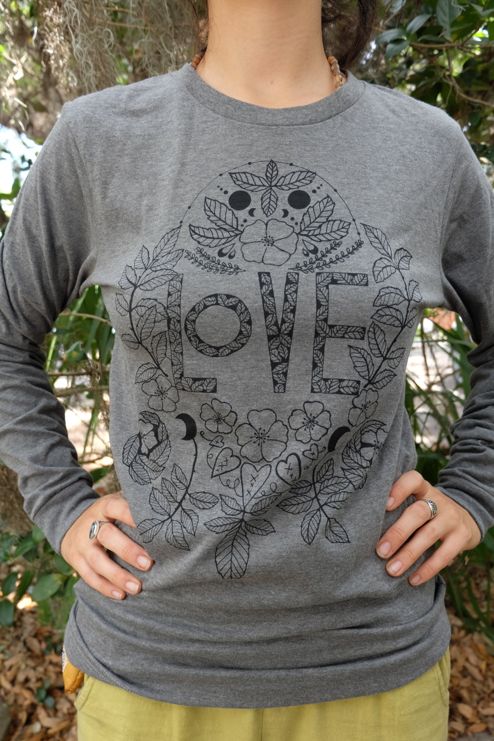 OGCP Unisex Long Sleeved Tee - Love, Wild Rose