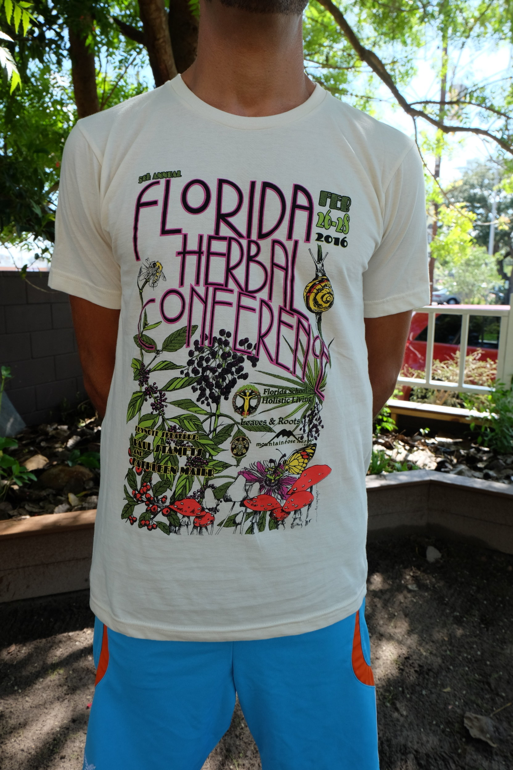 2016 Florida Herbal Conference Short Sleeved Tee 00026