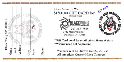 Black Wing Gift Cart Raffle Ticket