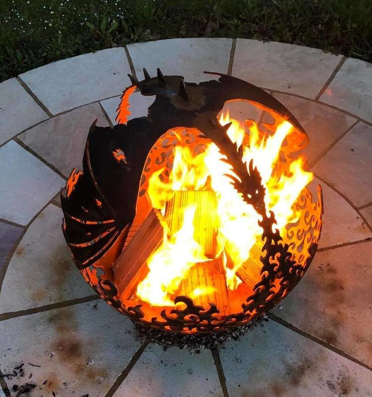 900mm Flying Dragon Firepit