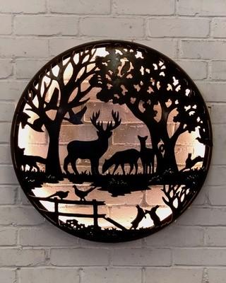 Illuminated Wall Mount - English Country Design 1000mm
