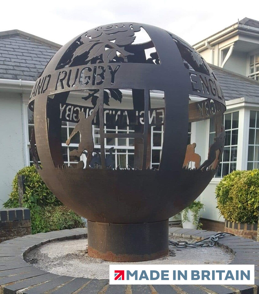 800mm England Rugby Special Firepit