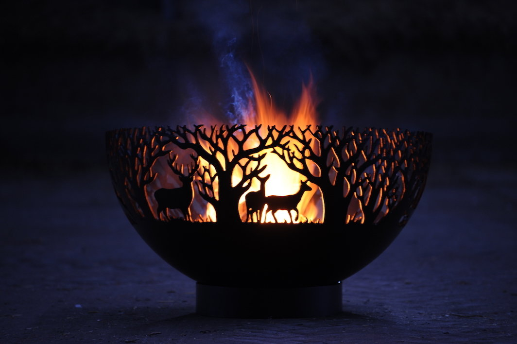 900mm Winter Themed Firepit Bowl