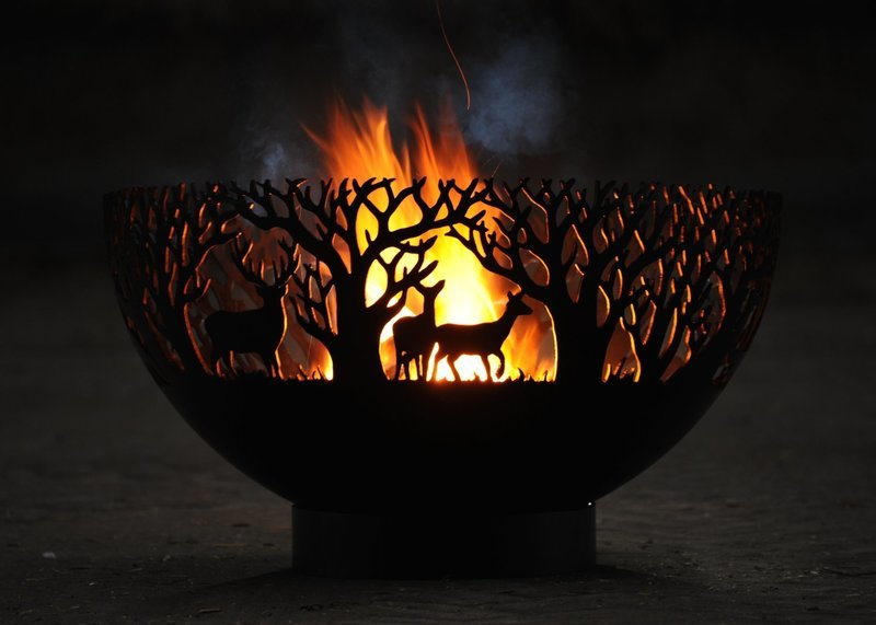 650mm Winter Themed Firepit Bowl