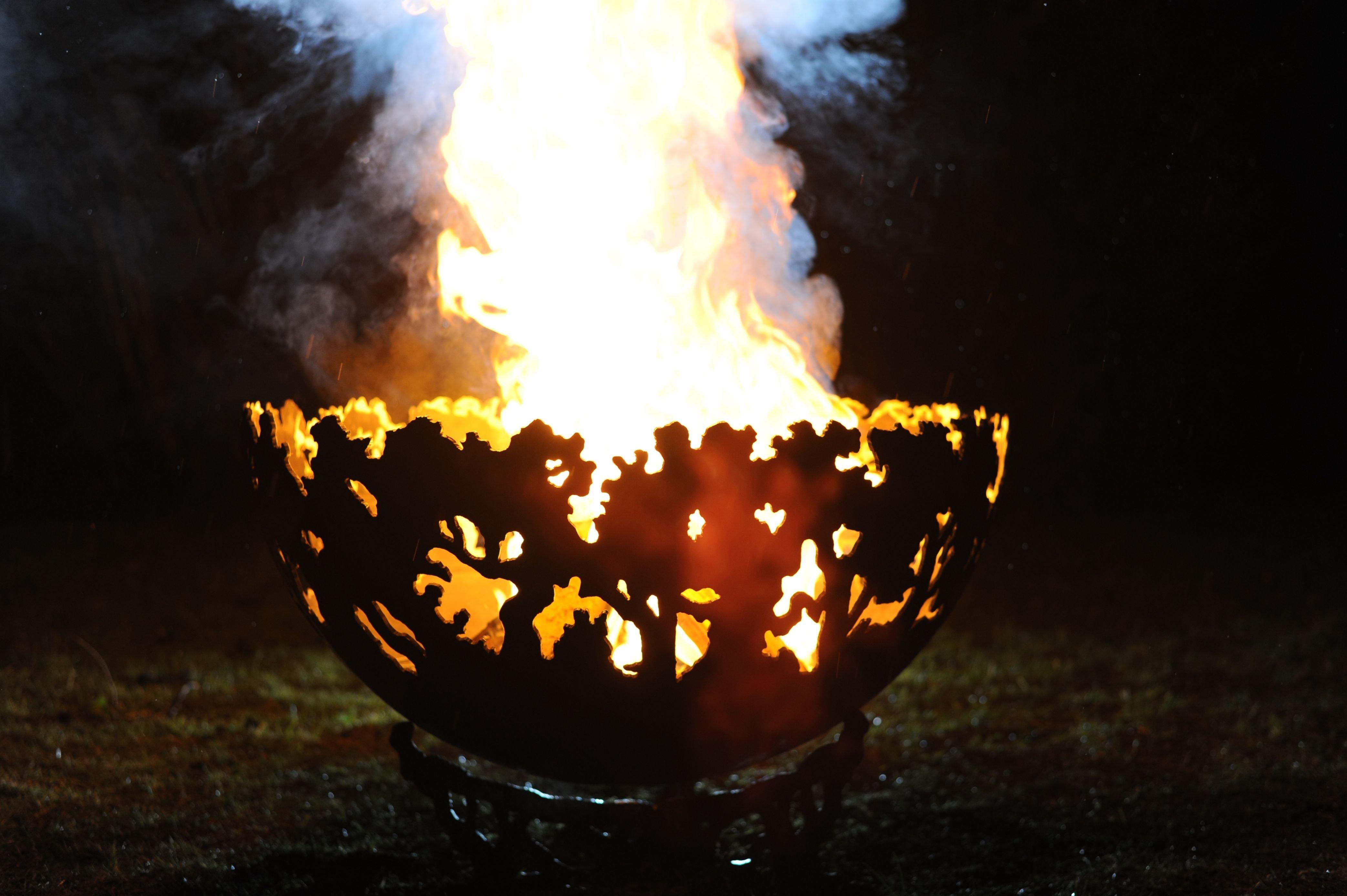 650mm Forest Themed Firepit Bowl 650BowlForestOL