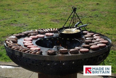 Raised BBQ Firepit