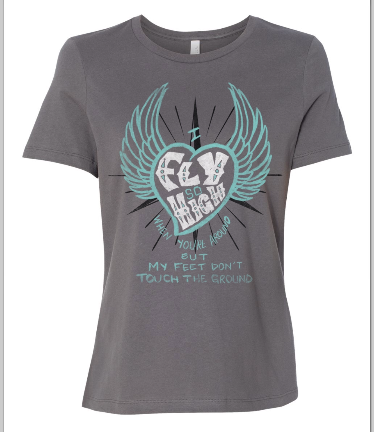 Feet Don't Touch The Ground (Heart/Wings) (Womens) LAMFWT
