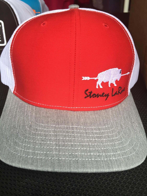 Red & Gray Buffalo Snapback Stoney LaRue Hat