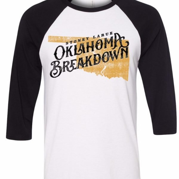 Men's T-Shirt: Oklahoma Breakdown 3/4 Sleeve T-Shirt OKBREAKDOWNTSHIRT_BIN009
