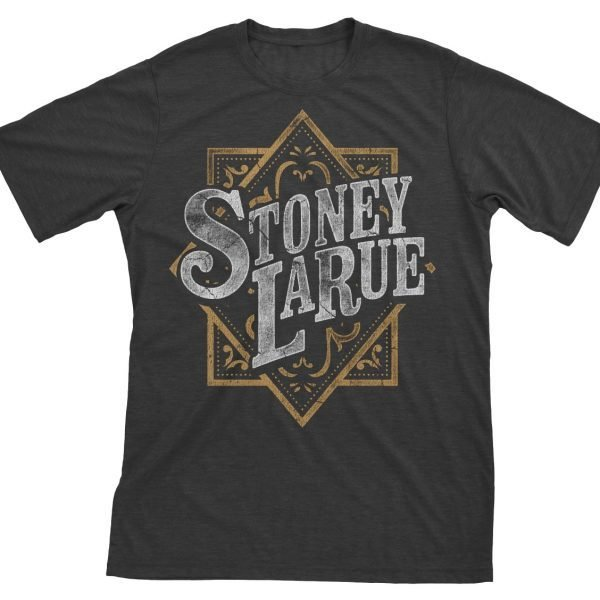 Men's T-Shirt: Stoney LaRue Leather Pattern Logo T-Shirt LEATHERPRINTLOGO_BIN012