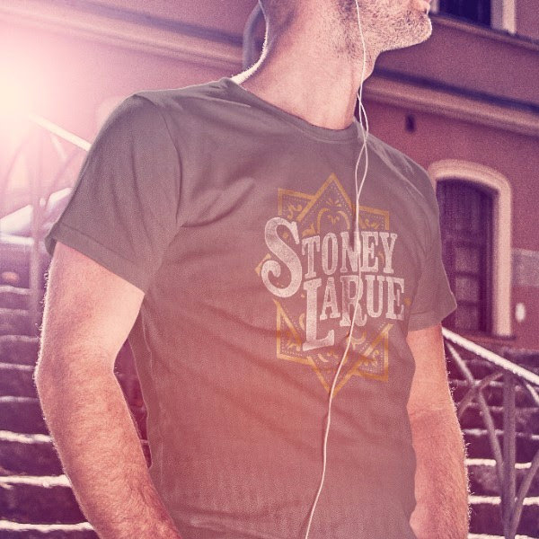Men's T-Shirt: Stoney LaRue Leather Pattern Logo T-Shirt