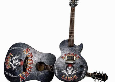 Stoney LaRue Custom Wrapped Autographed Guitar (Electric or Acoustic)