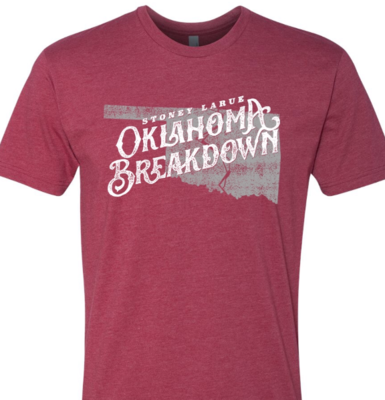 Men's Cardinal Color Oklahoma Breakdown Tee