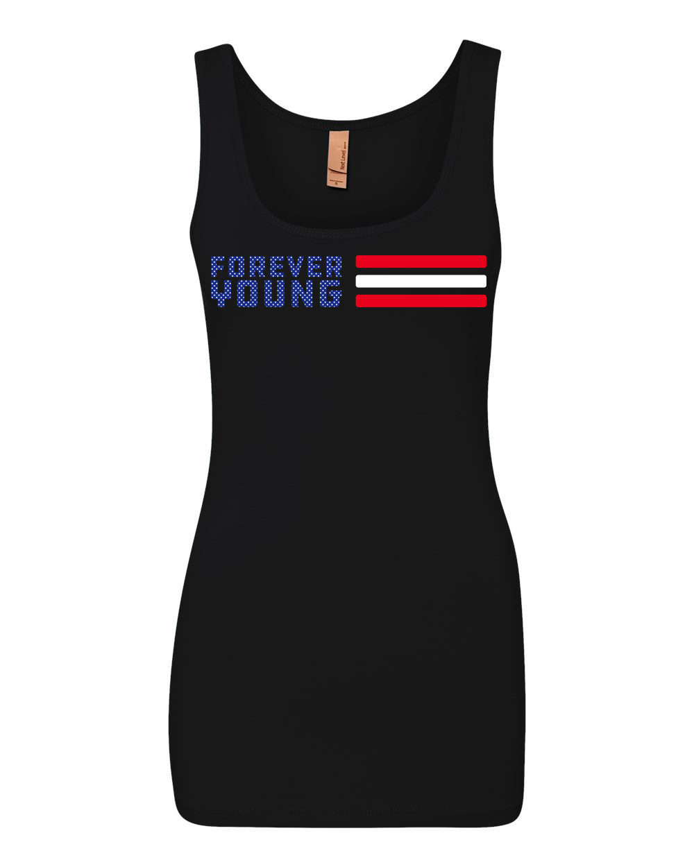 """Ladies """"Forever Young"""" Flag Tank Ladies Flag Tank"""