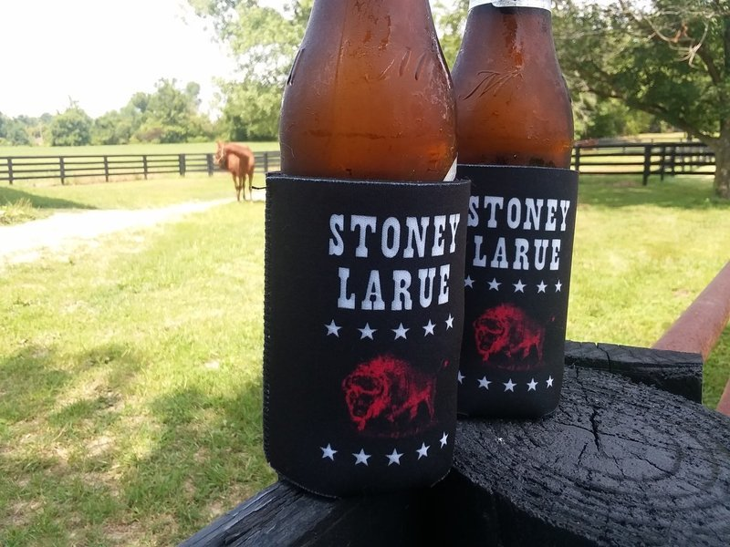 Red Bison logo Koozie