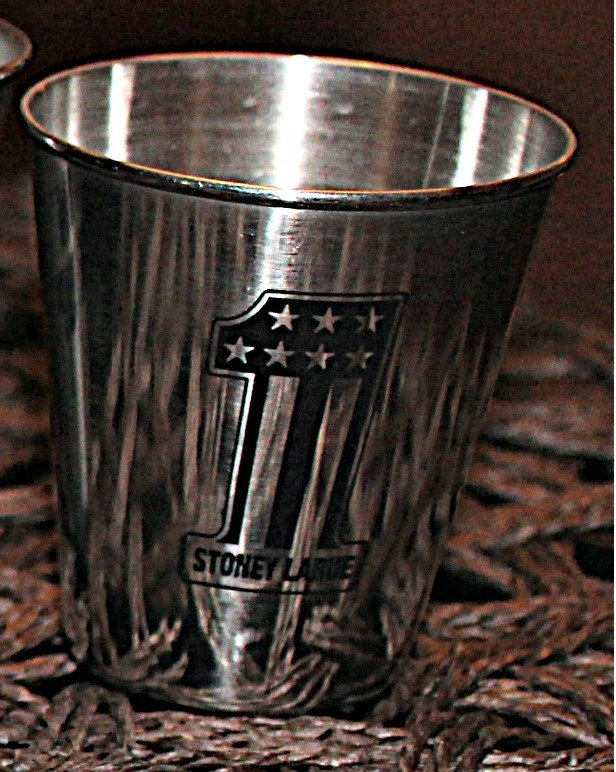 Metal Shot Glass Set (4) w/ Leather Case