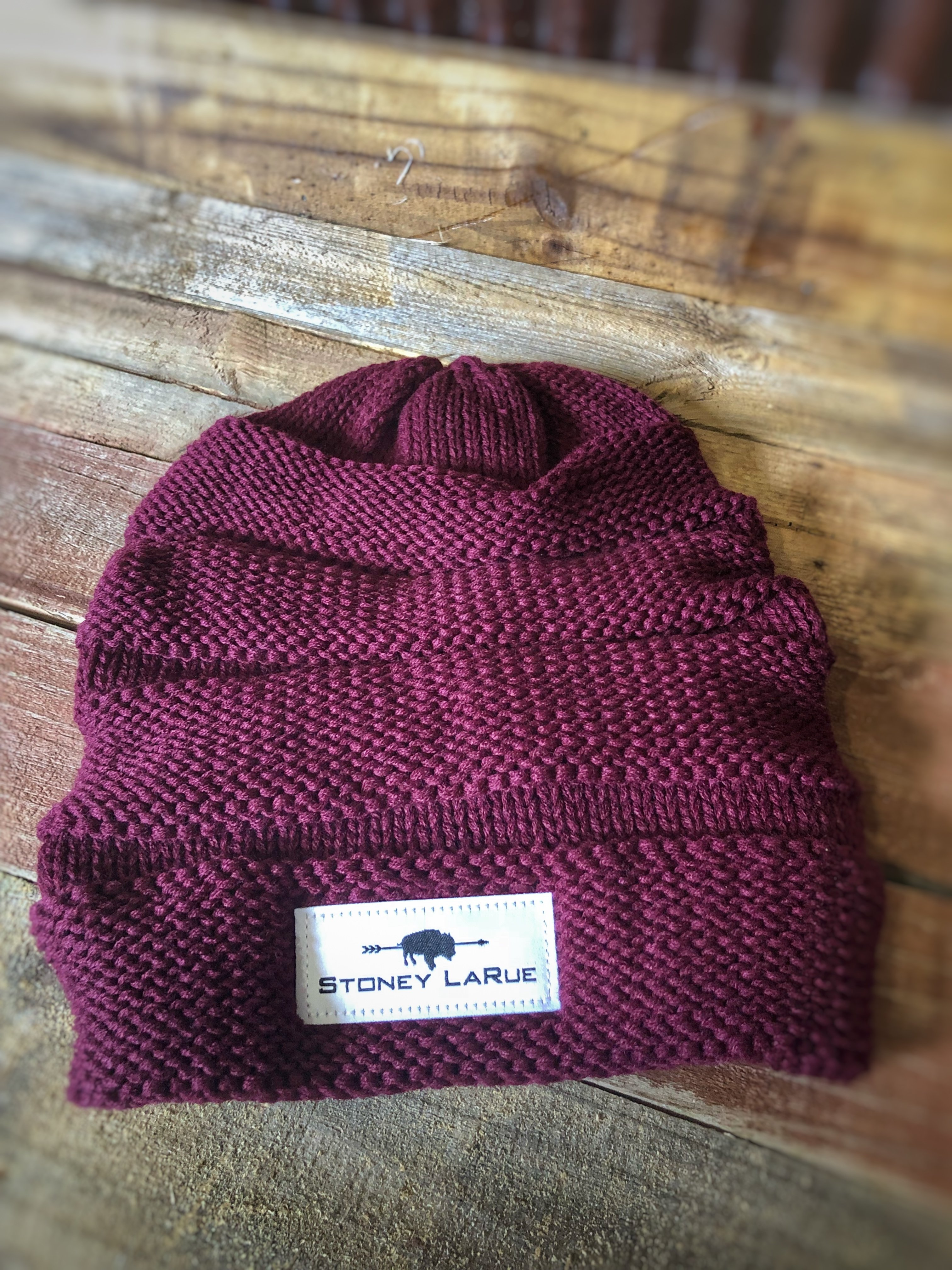 Scrunch Beanies (Cranberry or Black)
