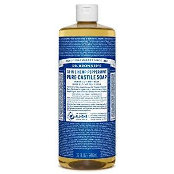 Dr. Bronner's – Savon Liquide de Castille Menthe bio équitable 946ml TX21025