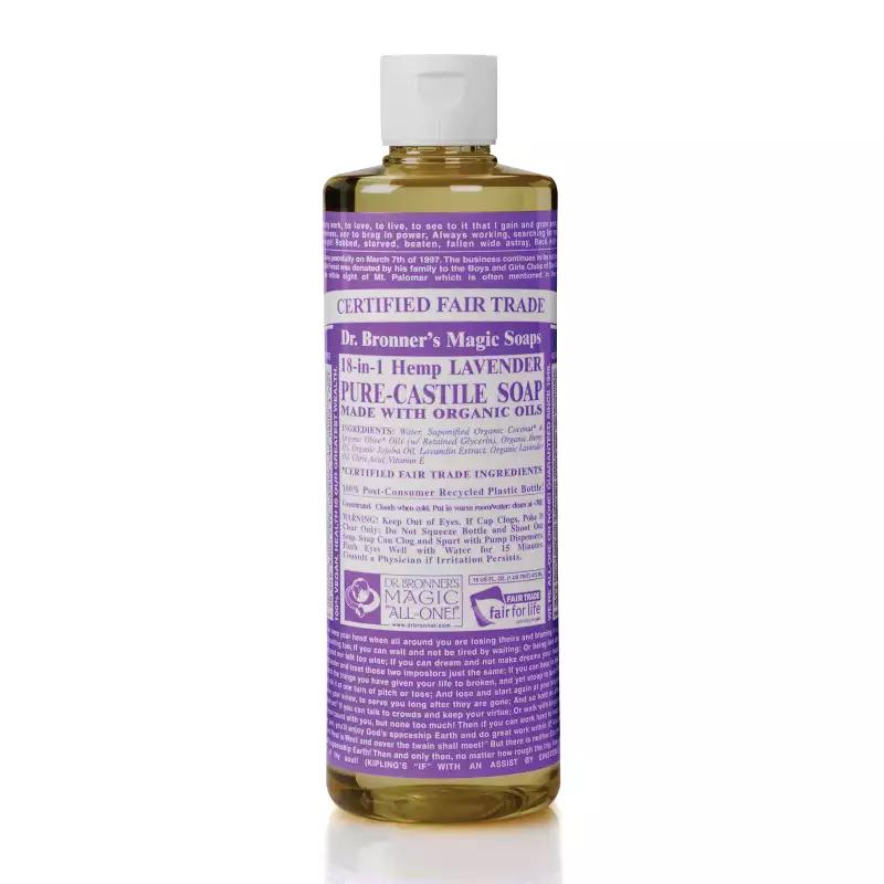 Dr. Bronner's – Savon Liquide de Castille Lavande bio équitable 946ml TX21027