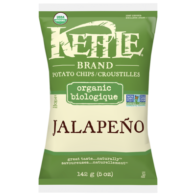 Kettle Brand - Croustilles Biologiques jalapeno 142g