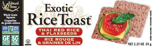 Edward & Sons - Craquelins riz rouge graines de lin bio 65g