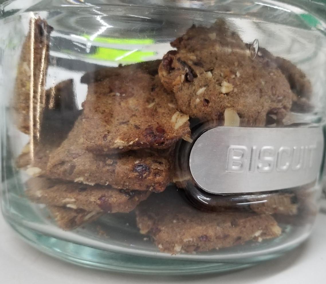 Snacky Day - Lot de (2 gros ou 3 petits) biscuits biologiques au sarrasin & canneberges bio, vegan et sans-ogm en vrac