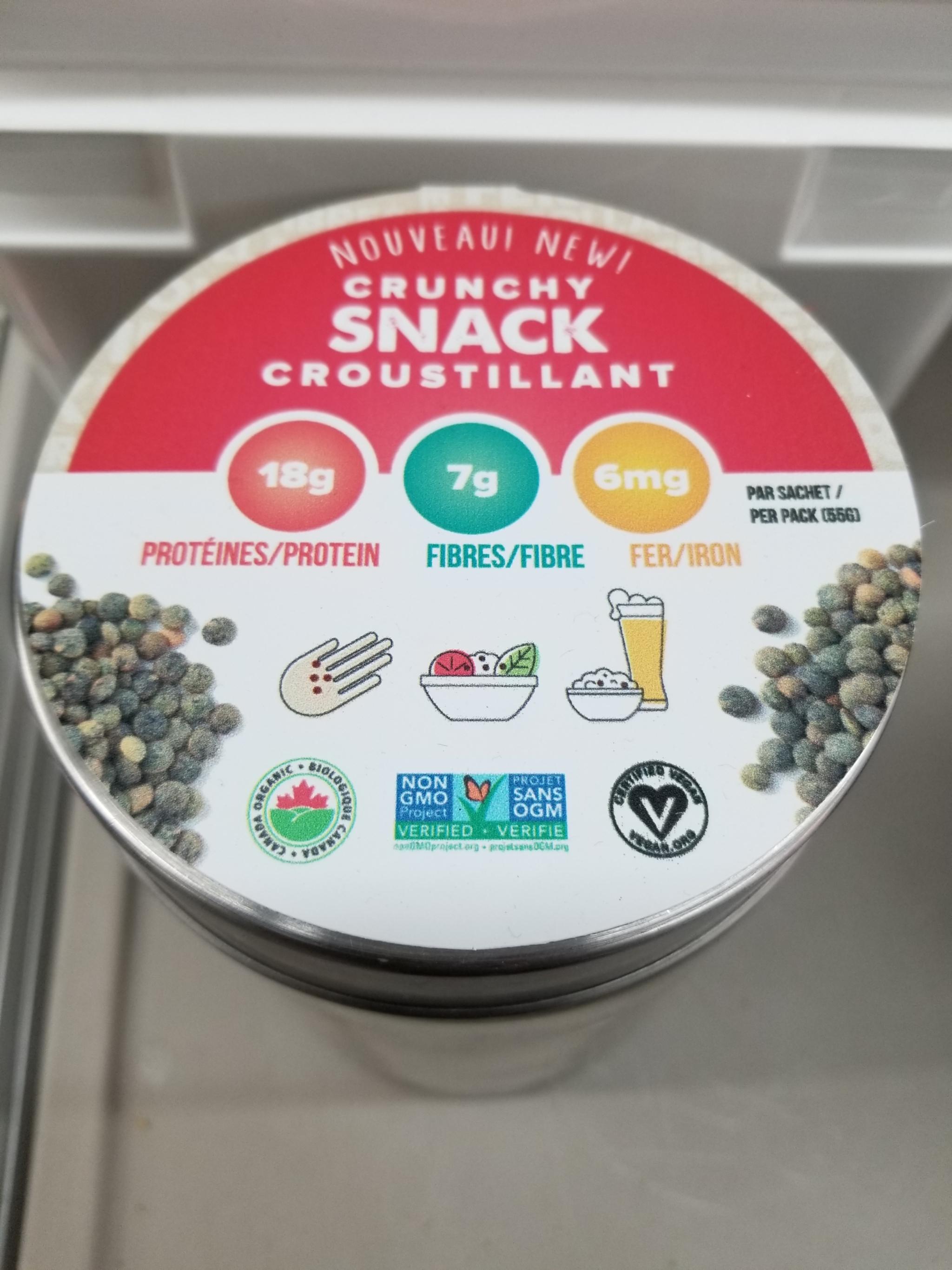 Snacky Day - Lentilles grillées bio, vegan et sans-ogm 1kg Vrac TX19084