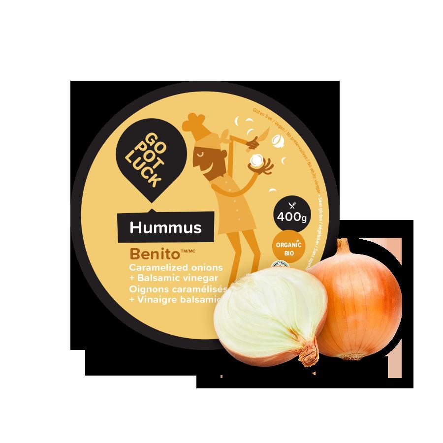 GoPotLuck – Hummus Benito Oignons caramélisés & vinaigre balsamique bio 400g
