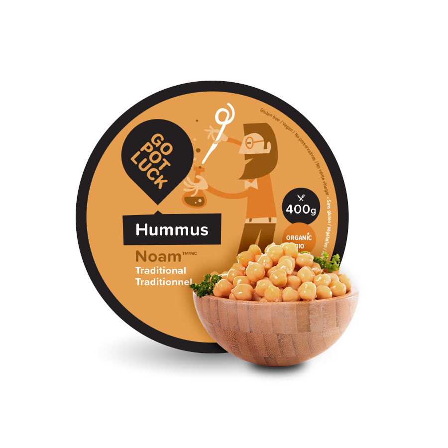 GoPotLuck - Hummus Noam traditionnel biologique 400gr