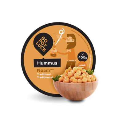 GoPotLuck - Hummus Noam traditionnel biologique 400gr