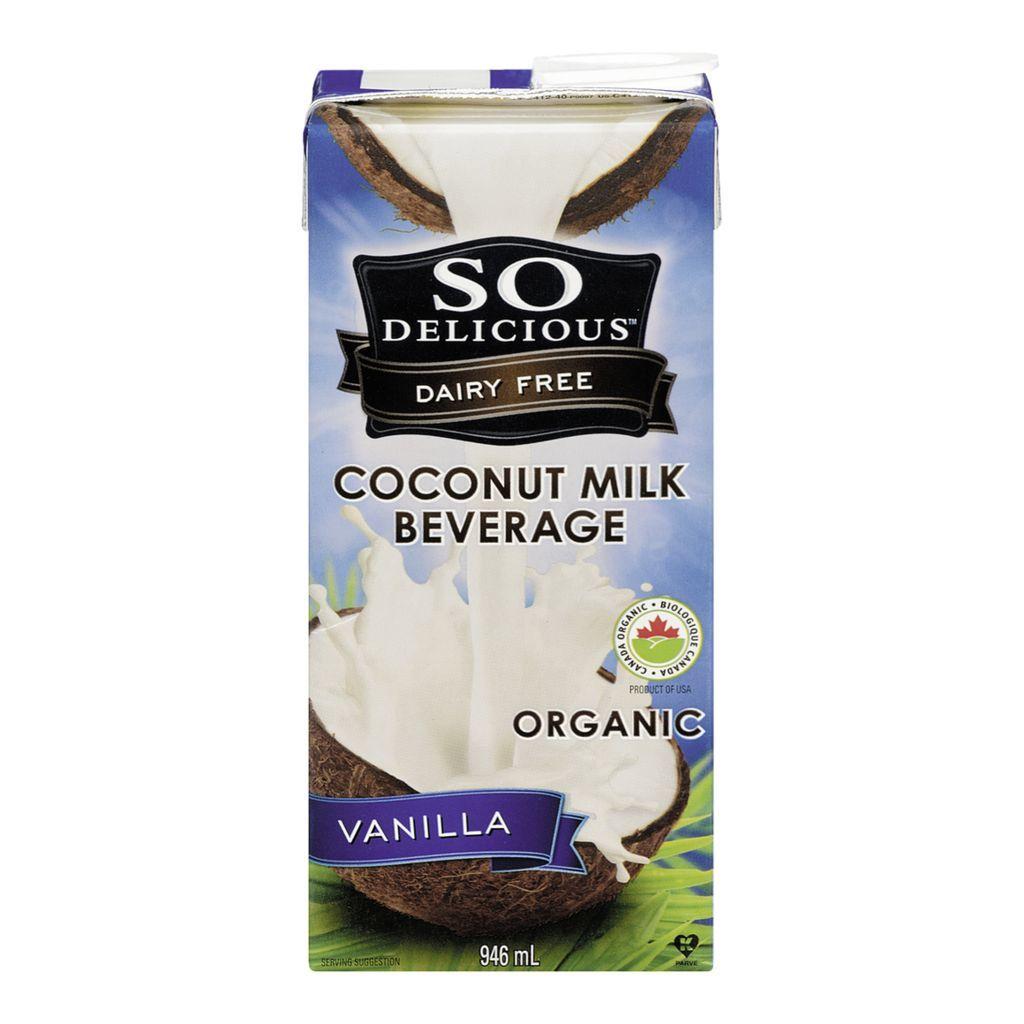 So delicious - Boisson lait de coco vanille bio 946ml 10077