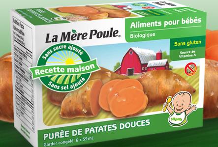 La Mere poule - Purée de patate douce bio 6x59ml