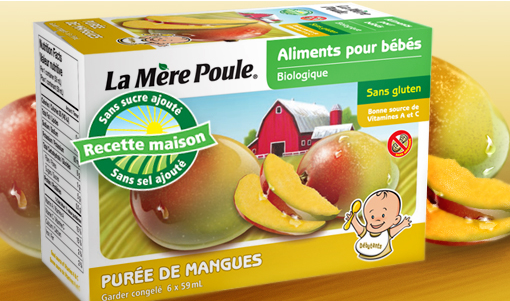La Mere poule - Purée de mangue bio 6x59ml 9031