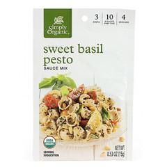 Simply Organic - Melange sauce pesto basilic bio 14g