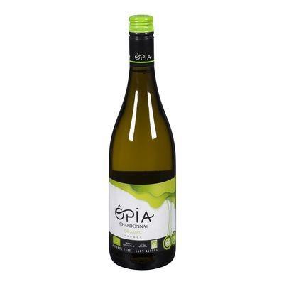 Opia - Vin blanc Chardonnay sans alcool bio 750ml : 12$