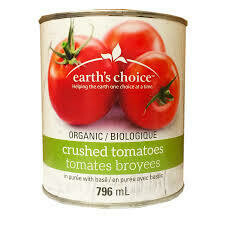 Earth's Choice - Tomates broyées sans sel avec basilic bio 796ml