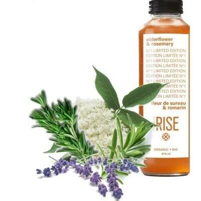 Rise - Kombucha Fleur de sureau & romarin 414ml