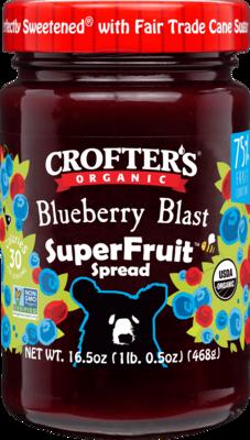 Crofters – Tartinade Bleuet Blast superfruit bio 383ml