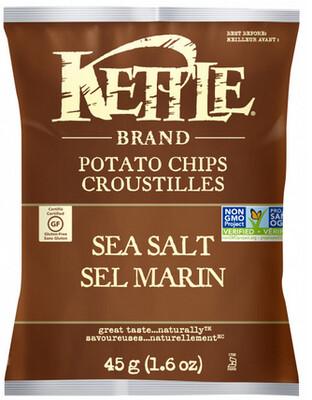 Kettle Brand – Petit sac de Croustilles sel marin bio 45g