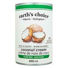 Earth's Choice - Creme de coco sans guar bio equitable 400ml