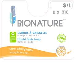 Bionature – Liquide a vaisselle agrume dans un pot mason 500ml