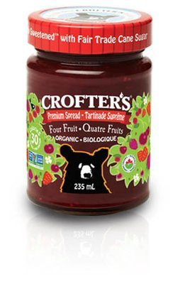 Crofters - Tartinade aux quatre fruits premium biologique