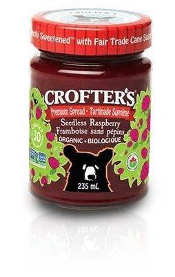 Crofters - Tartinade aux framboises sans pépins premium biologique