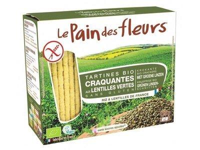 Le Pain des Fleurs - Tartines craquantes aux lentilles vertes Bio 150g