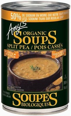 Amy's Kitchen - Soupe aux pois cassés biologique faible en sodium